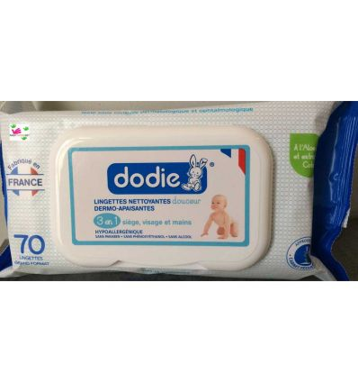 DODIE WIPES soft dermo soothing cleansing wipes 70 baby 's wipes