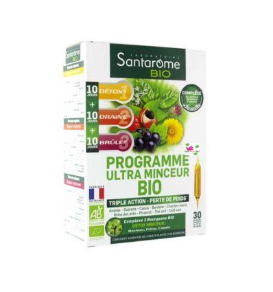 SANTAROME ORGANIC ULTRA SLIM SCHEDULE 30DAYS diet in 3 steps