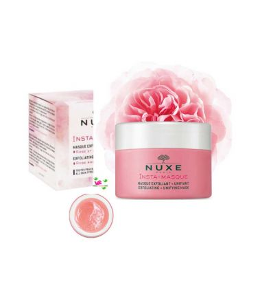 NUXE INSTA MASK face exfoliating purifying mask rose and macadmaia
