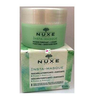 NUXE INSTA MASK face PURIFYING SMOOTHING mask rose and clay