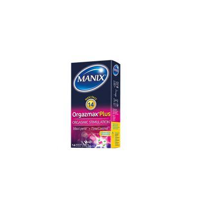 MANIX Préservatifs ORGAZMAX PLUS 14 préservatifs Manix