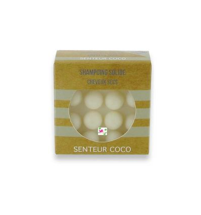 SOLID SHAMPOO DRY hair scent coconut,