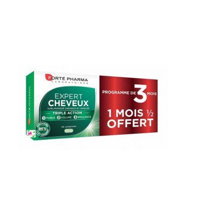 EXPERT CHEVEUX 3 en 1 cheveux normaux lot 3 mois Forte Pharma