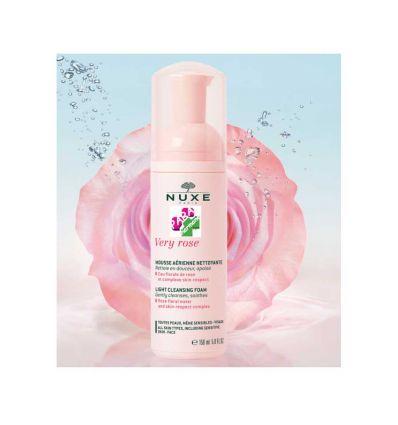 NUXE VERY ROSE Mousse aérienne nettoyante soin visage 150 ml eau florale de rose