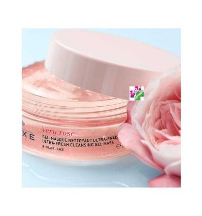 NUXE VERY ROSE Masque Visage texture gel Nettoyant ultra frais eau florale de rose 150 ml