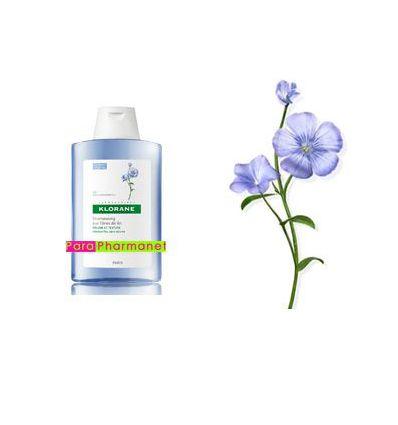Shampoo with flax fiber fine flat hair 400 ml klorane