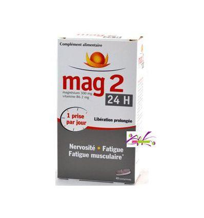 Mag 2 24H MAGNESIUM VITAMINE B6 45 comprimés