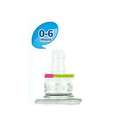 Tétine 1er age silicone biberon col étroit 0-6 mois Débit 1 DODIE