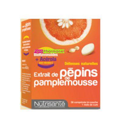 Extraits de Pépins de Pamplemousse +Acerola 56 cp Nutrisanté