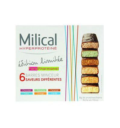 Coffret Milical barres hyperprotéinées Minceur 6 saveurs MILICAL