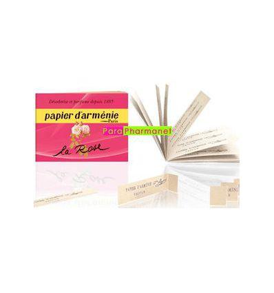 Papier d'arménie Paris la ROSE carnet à la ROSE