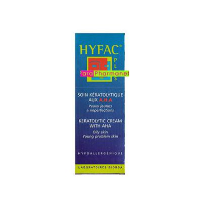 Hyfac Keratoregulating care with AHA.