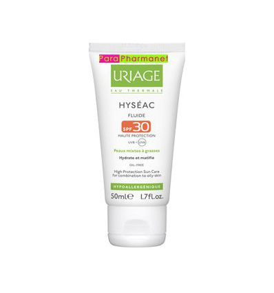 HYSEAC fluide solaire protection haute SPF 30 Uriage