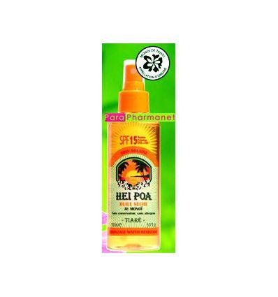 Dry oil with Monoi spf 15 solar product HEI POA