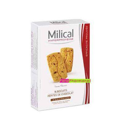 Biscuits Hyperprotéiné Pépites de Chocolat 16 biscuits Milical