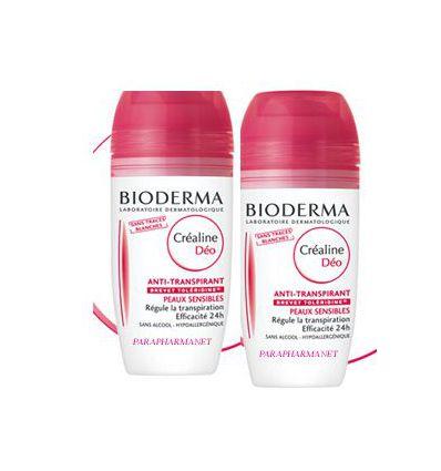 Crealine anti-perspirant deodorant Roll-on PACK OF 2-Bioderma