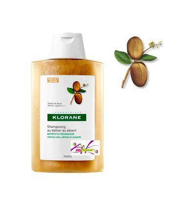 Shampooing Au DATTIER du désert Cheveux secs 400 ml KLORANE